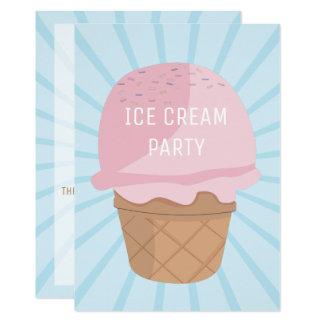 Ice Cream Celebration Party Birthday Invitation