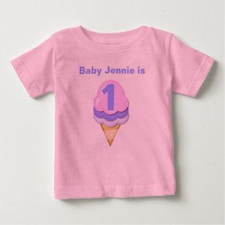 Ice Cream Cone Customizable Birthday T-shirt