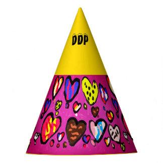 ice cream heart party hat
