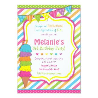 ice cream invitation / ice cream invite