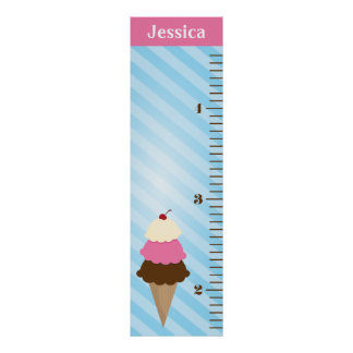 Ice Cream Kids Growth Chart Poster