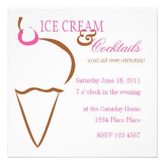 Ice Cream Lines Invites