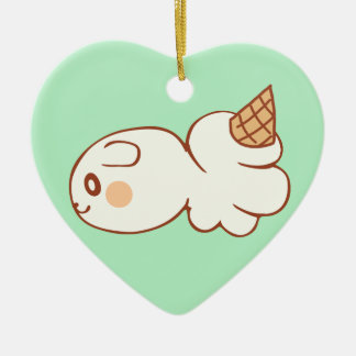 Ice-cream market icecream market ceramic heart decoration