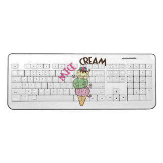 Ice Cream Mice Cream Wireless Keyboard