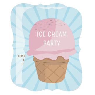 Ice Cream Party Invite
