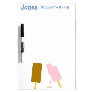 Ice Cream Personalized Summer Fun Dry-Erase Board