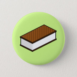 Ice Cream Sandwich - Honeydew 6 Cm Round Badge