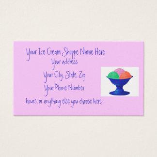 Ice Cream Shoppe business cards
