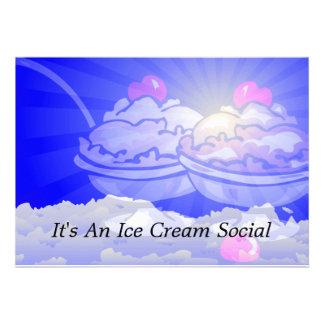 Ice Cream Skyline Invitations