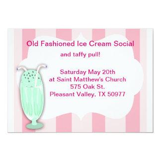Ice Cream Social 13 Cm X 18 Cm Invitation Card