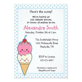 Ice Cream Social Baby Shower 13 Cm X 18 Cm Invitation Card