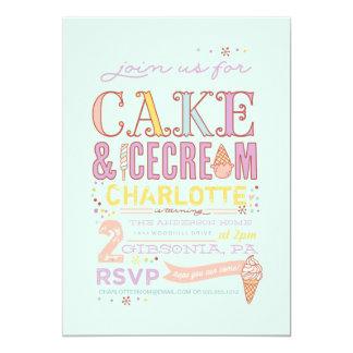 ICE CREAM SOCIAL BIRTHDAY PARTY INVITATION invite