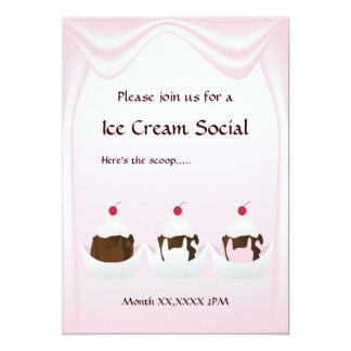 Ice Cream Social Custom Invitation