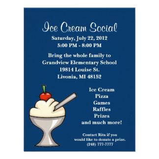 Ice Cream Social Flyer Custom Announcements