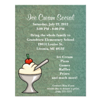 Ice Cream Social Flyer Announcements