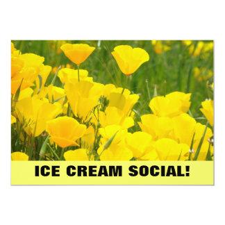 "Ice Cream Social! Invitations Announcements Poppy 5"" X 7"" Invitation Card"