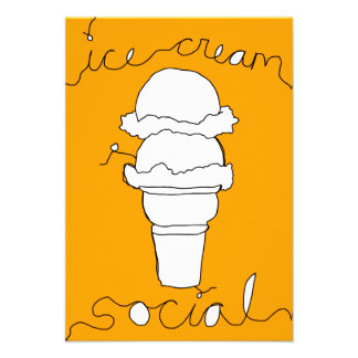 ice cream social strings custom invites