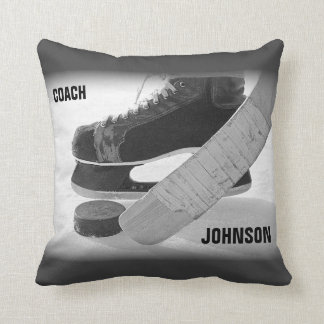 Ice Hockey Coach Thank You Cushion