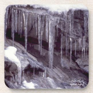 Ice On The Rocks Cork Coaster