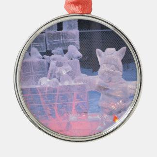 Ice Sculpture Sporting Artist Carving Arctic Gifts Christmas Ornament