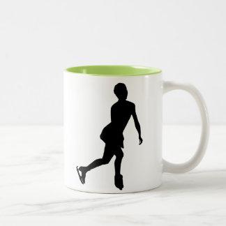 Ice Skater; Cool Two-Tone Mug