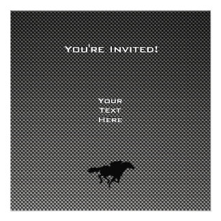 Ice Skater Faux Carbon Fiber Personalized Invites