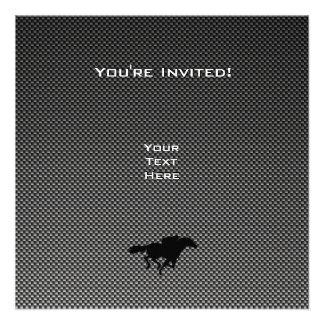 Ice Skater Faux Carbon Fiber Personalized Invites