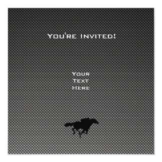 Ice Skater; Faux Carbon Fiber Personalized Invites
