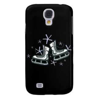 ice skates and snowflakes graphic galaxy s4 case