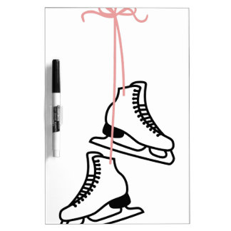 Ice Skates Dry-Erase Whiteboard