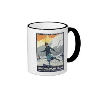 Ice Skating - PLM Olympic Promo Poster Ringer Mug