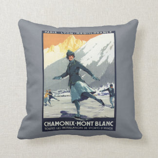 Ice Skating - PLM Olympic Promo Poster Throw Cushions