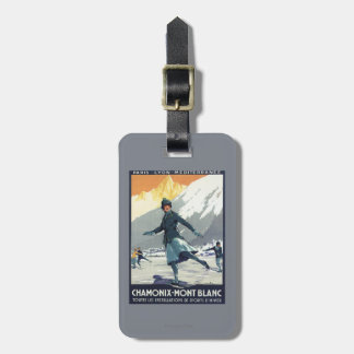 Ice Skating - PLM Olympic Promo Poster Travel Bag Tag