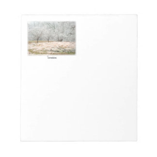 Ice Storm Rural Tennessee - Scenic Photograph Notepad
