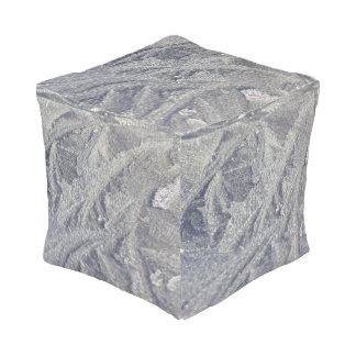Ice Swirl Patterns Cube Pouf