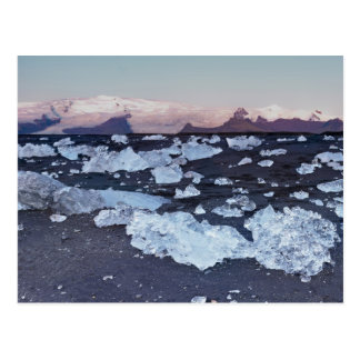 Iceberg formation on the beach postcard