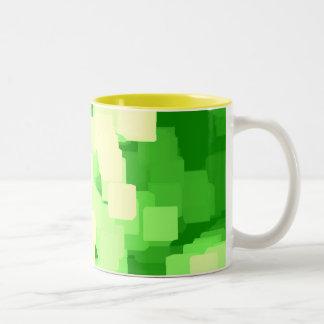 """Iceberg""  Geometric Art Two-Tone Coffee Mug"
