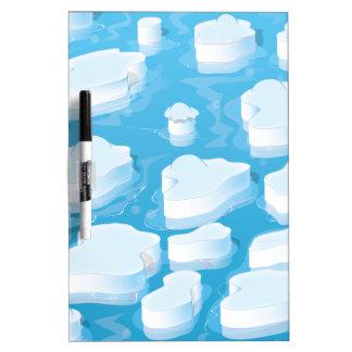 Icebergs Dry Erase Board