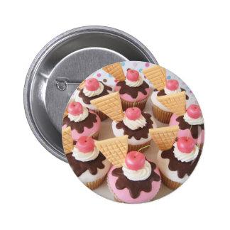 icecream cupcakes 6 cm round badge