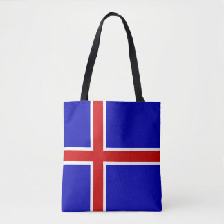 Iceland country long flag nation symbol republic tote bag