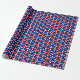Iceland Flag Honeycomb Wrapping Paper