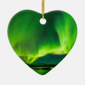 Iceland Northern Lights Christmas Ornament