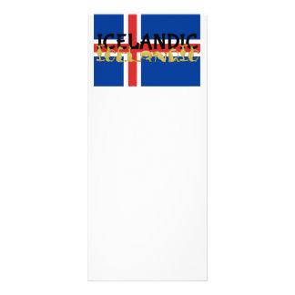Icelandic Horse | Flag of Iceland Rack Card Design