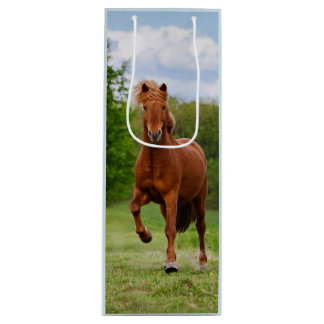 Icelandic Pony Runs Tölt Funny Photo Horse Lovers Wine Gift Bag
