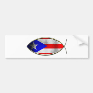 Ichthus - Puerto Rican Flag Bumper Sticker