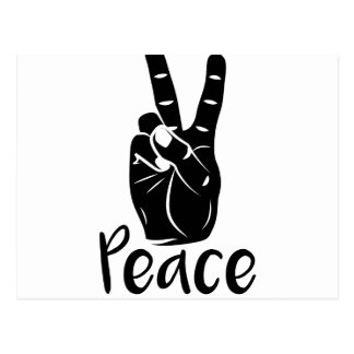 "Icon hand peace sign with text ""PEACE"" Postcard"