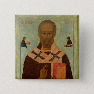 Icon of St. Nicholas 15 Cm Square Badge