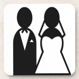 Icon Wedding Couple Coaster