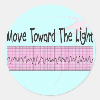 ICU Nurse Gift--Hilarious V-Fib EKG Strip Design Round Sticker