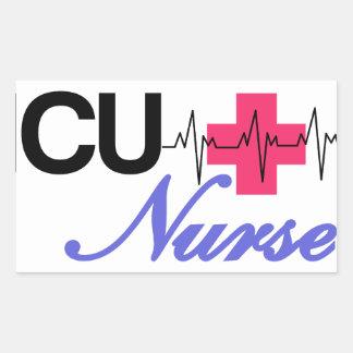 ICU Nurse Rectangular Sticker